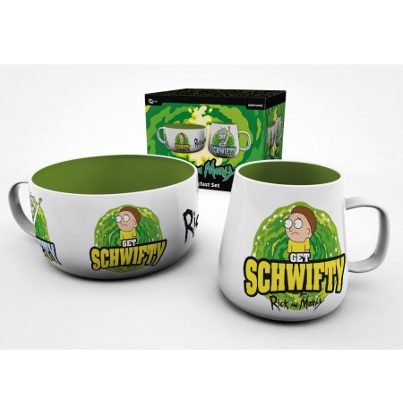 RICK AND MORTY Get Schwifty Reverse Breakfast Set