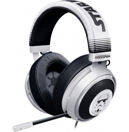 RAZER KRAKEN Stormtrooper™ baltos laidinės ausinės su mikrofonu 7.1 | 3.5mm