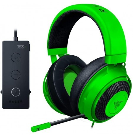 RAZER KRAKEN Tournament Edition žalios laidinės ausinės su mikrofonu | USB/3.5mm