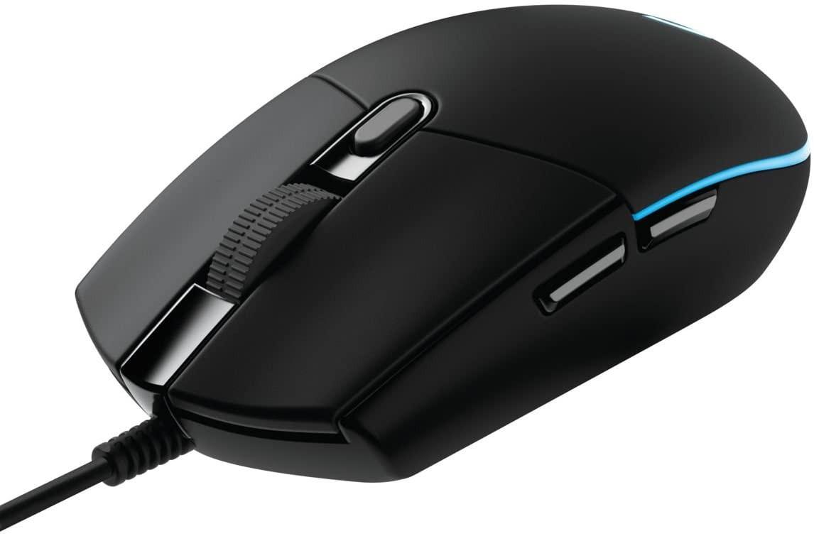 LOGITECH G203 Lightsync juoda laidinė pelė