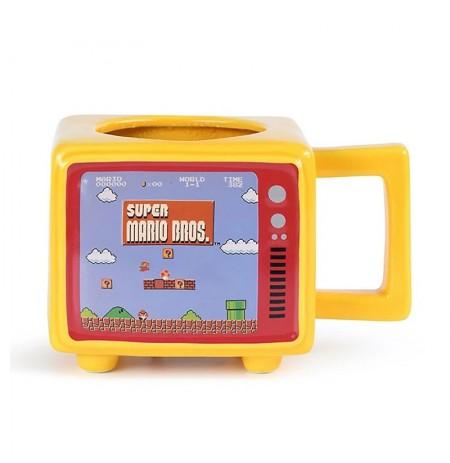 Super Mario Bros. Retro TV spalvą keičiantis 3D puodelis