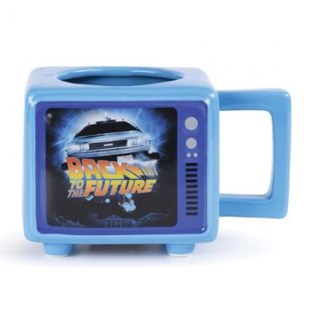 Back to the Future Retro TV spalvą keičiantis 3D puodelis