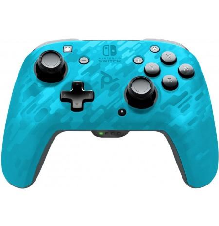 PDP Faceoff Deluxe - Blue Camo belaidinis valdiklis skirtas Nintendo Switch