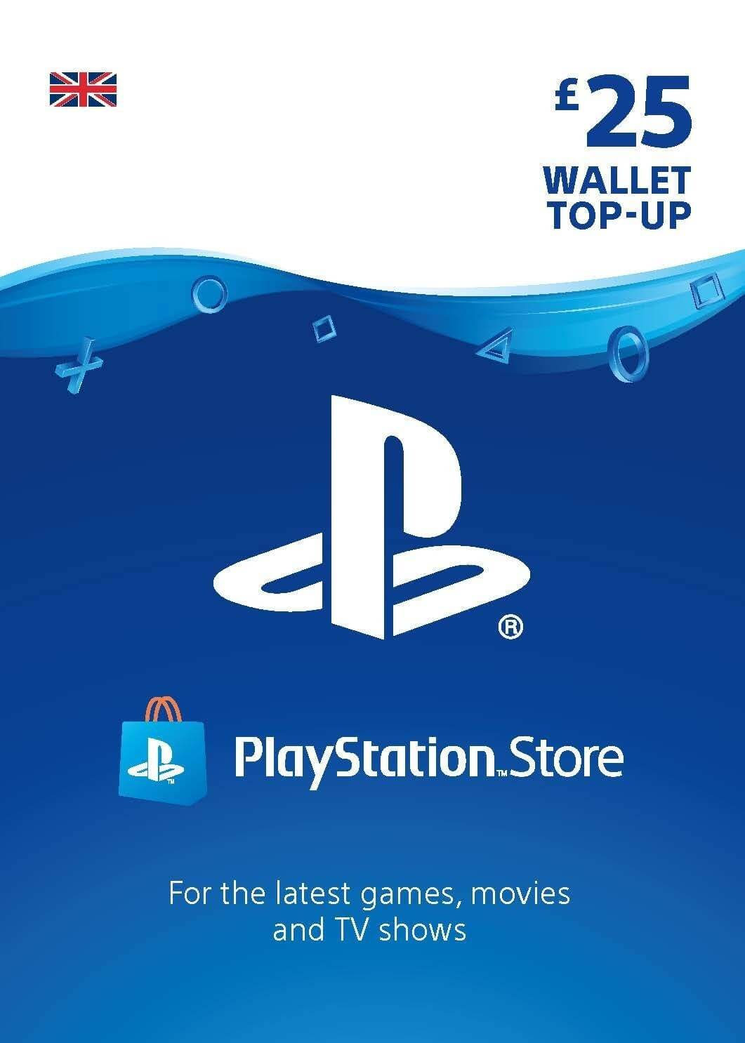 Playstation Network Card 25 GBP (Anglija)