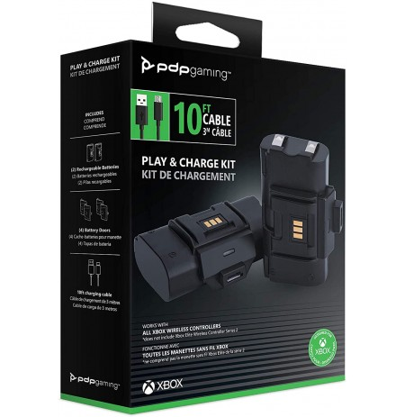PDP Gaming Play & Charge Kit for Xbox Series X|S, Xbox One