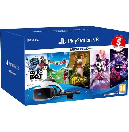 Virtualios realybės akiniai Sony PlayStation VR Mega Pack su PS4 kamera ir 5 žaidimais