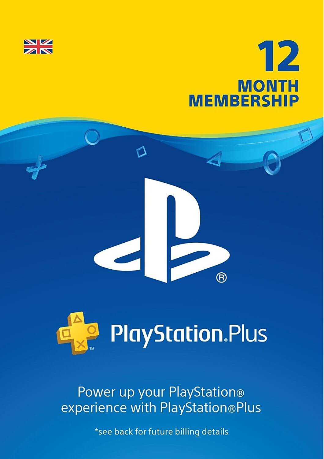Playstation PLUS Card 365D (Anglija)