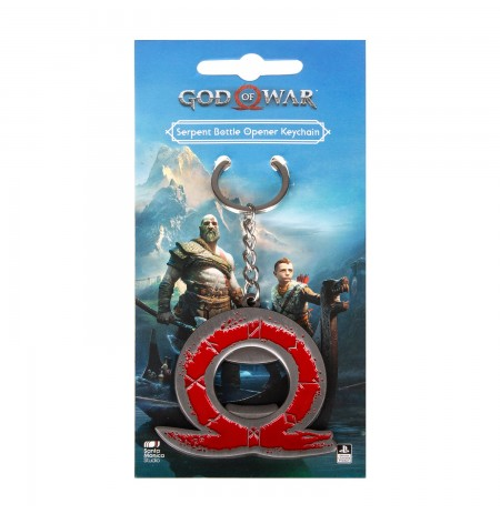 "GOD OF WAR ""SERPENT"" KEYCHAIN BOTTLE OPENER"
