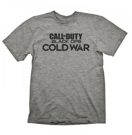 Call of Duty Cold War LOGO GREY T-SHIRT  - Extra Large size