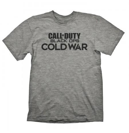 Call of Duty Cold War LOGO pilki marškinėliai - M dydis