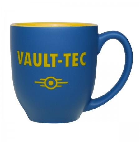 """FALLOUT """"VAULT-TEC"""" blue/yellow mug"""
