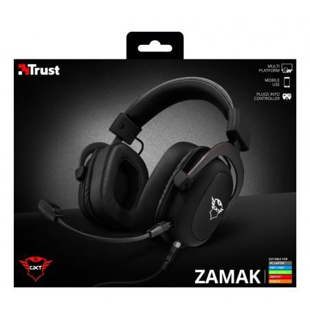 TRUST GXT 414 Zamak Premium juodos laidinės ausinės | 3.5mm