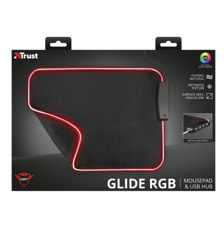 TRUST GXT 765 Glide-Flex RGB XL pelės kilimėlis |350x250x3mm