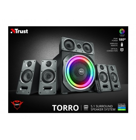 TRUST GXT 698 Torro RGB-Illuminated 5.1 Speaker Set