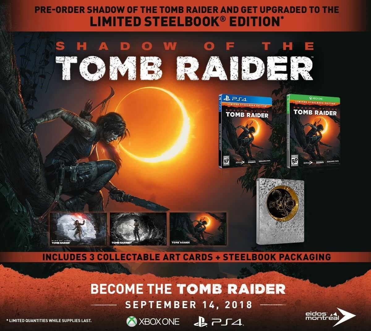 Shadow of the Tomb Raider - Steelbook edition