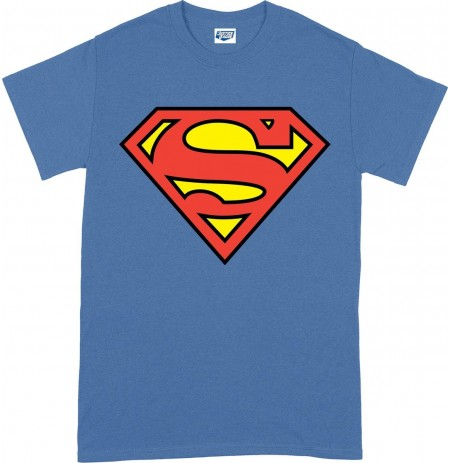 DC Originals Superman Shield blue T-SHIRT  - Large size