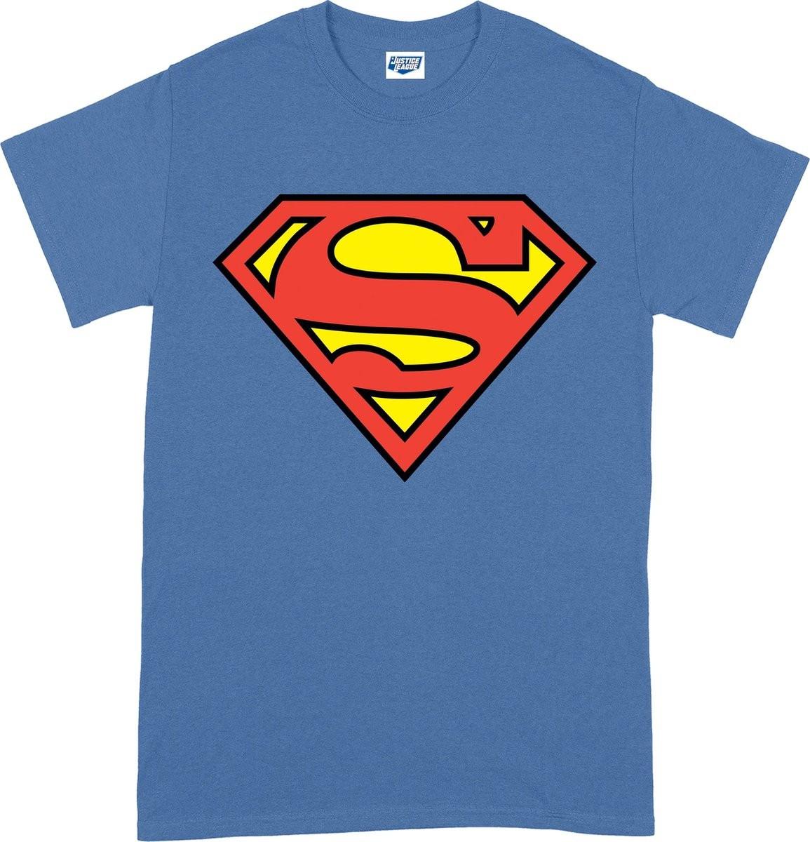 DC Originals Superman Shield mėlyni marškinėliai  - L dydis