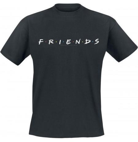 FRIENDS Logo juodi marškinėliai  - L dydis