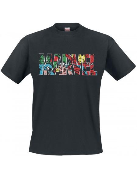 MARVEL Logo juodi marškinėliai  - M dydis