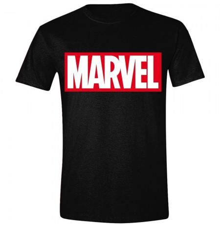 MARVEL - LOGO juodi marškinėliai - L dydis
