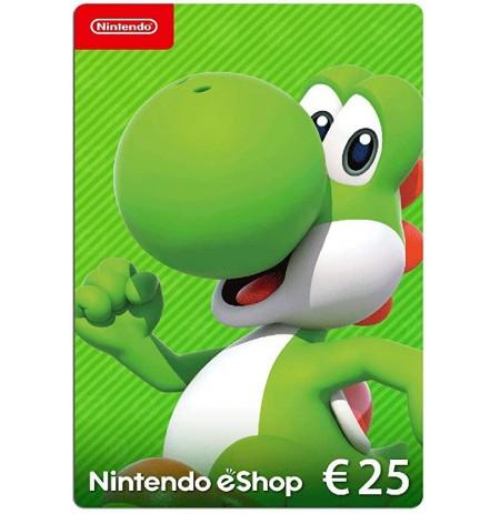 Nintendo eShop Card 25 EUR (EUROPOS ŠALYS)