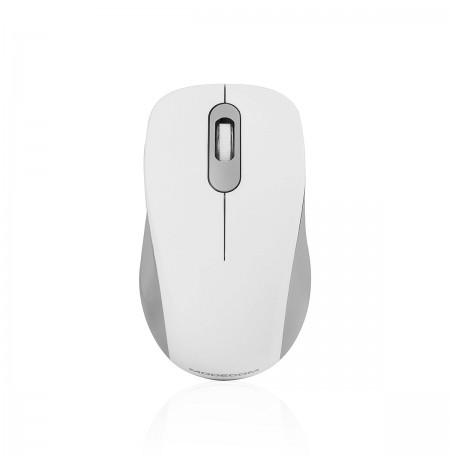 MODECOM MC-WM10S balta belaidė optinė pelė | 1600 DPI
