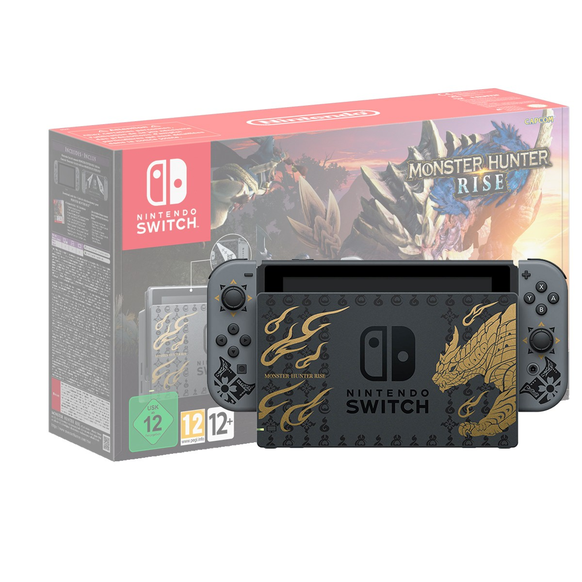 Nintendo Switch MONSTER HUNTER RISE Edition žaidimų konsolė v1.1(V2)