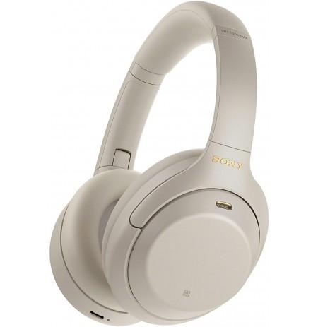 Sony WH-1000XM4 belaidės triukšmą slopinančios ausinės (sidabrinės)
