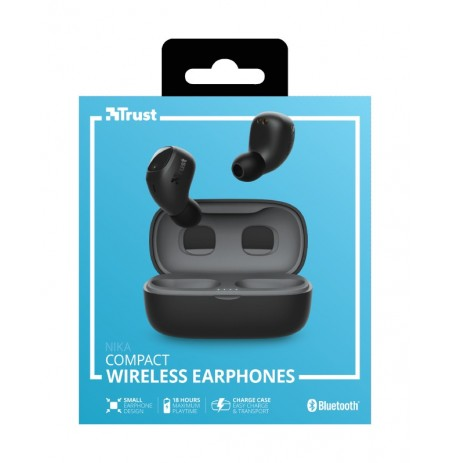 TRUST Nika juodos belaidės ausinės (Bluetooth)