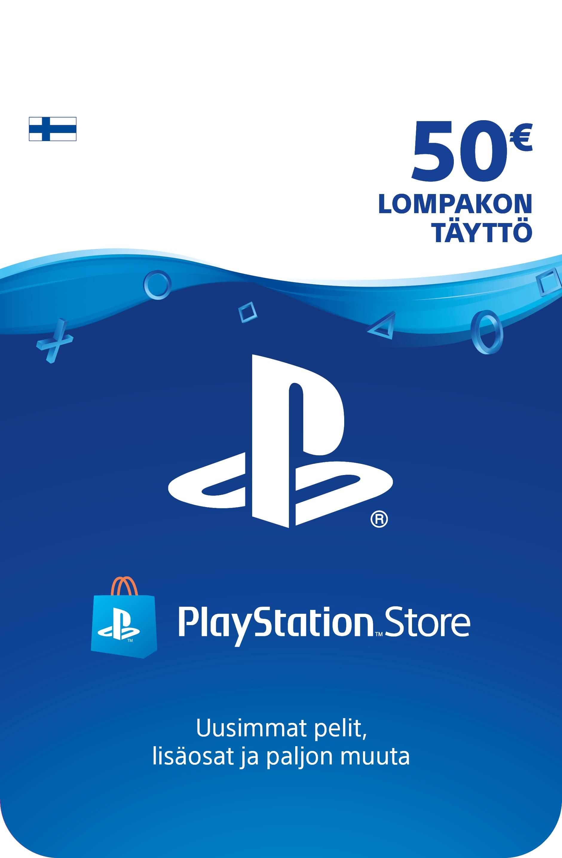 Playstation Network Card 50 EUR (Suomija)
