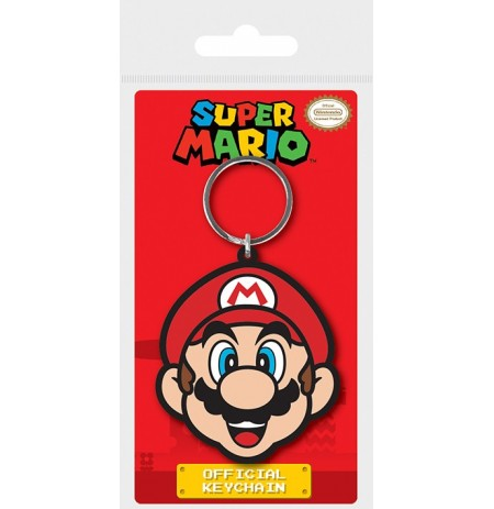 Super Mario (Mario) Rubber Keychain