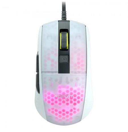 Roccat Burst Pro balta optinė laidinė žaidimų pelė