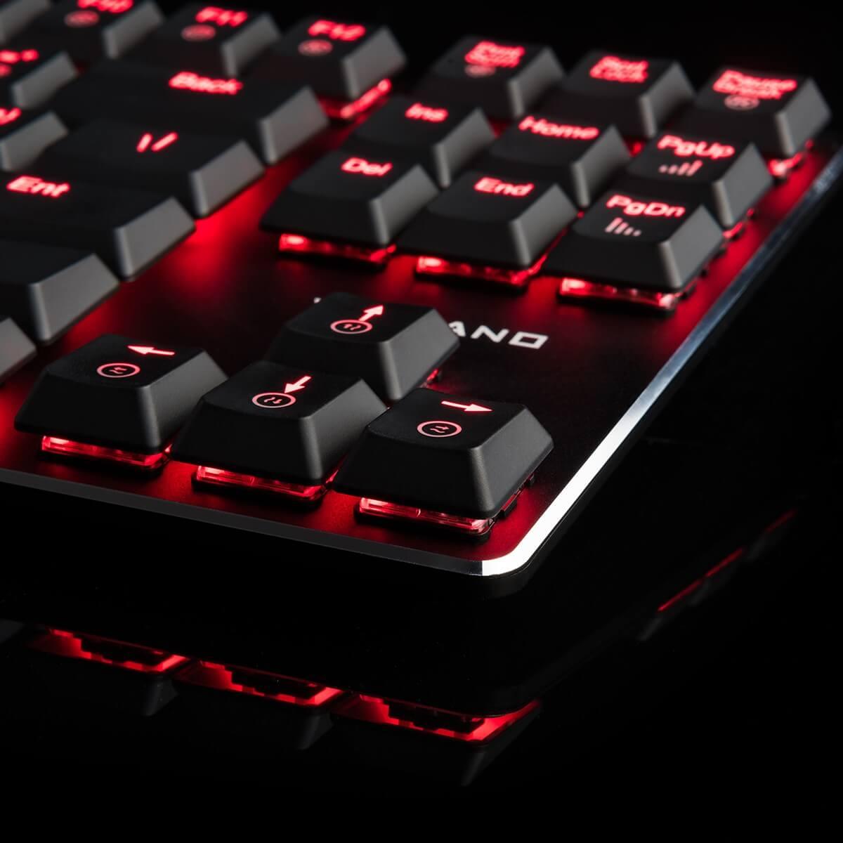 MODECOM VOLCANO BLADE žaidimų klaviatūra RED US