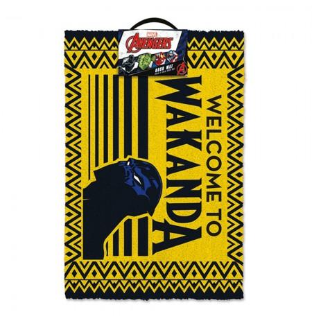 Black Panther (WELCOME TO WAKANDA) durų kilimėlis * 40x60cm