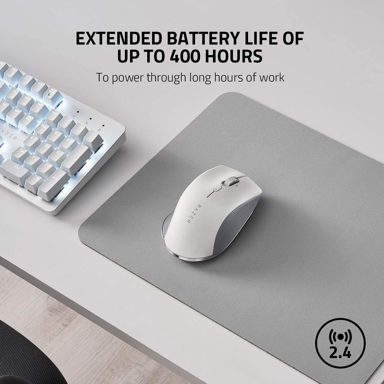 RAZER Pro Click balta belaidė ergonominė pelė | 16000 DPI