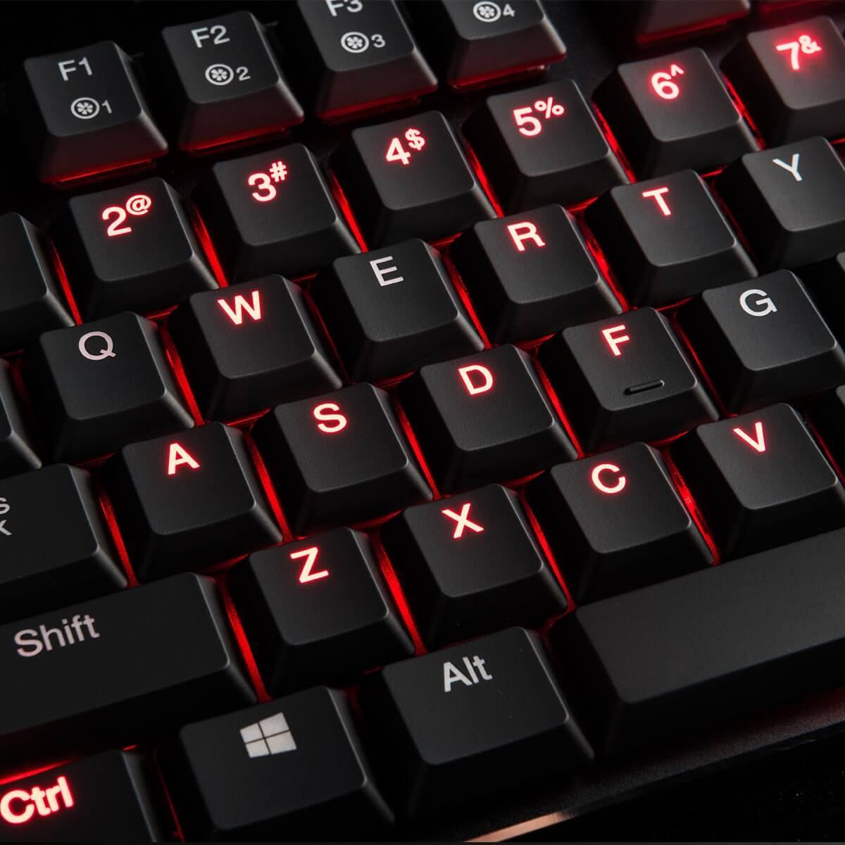 MODECOM VOLCANO BLADE žaidimų klaviatūra BROWN US