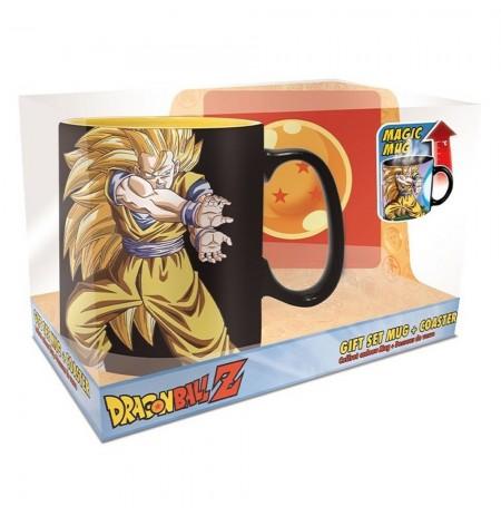 """Dragon Ball """"KAMEHAMEHA"""" reaguojantis į karštį puodelis + padėkliukas"""