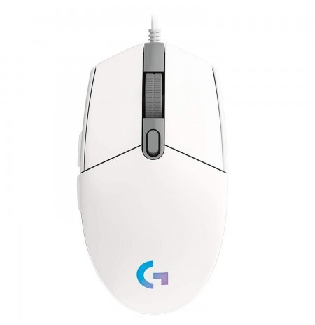 LOGITECH G203 Lightsync  white wired mouse