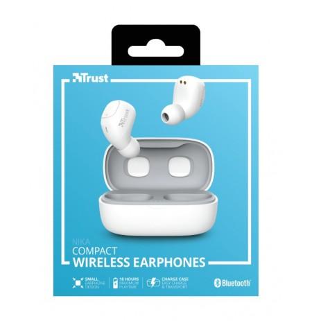 TRUST Nika white wireless earphones (Bluetooth)