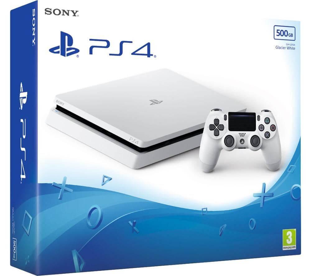 Žaidimų konsolė SONY PlayStation 4 (PS4) Slim 500GB (balta) PS4