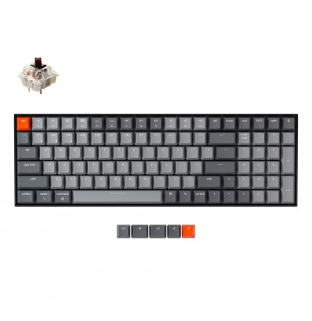 Keychron K4 mechanical 96% keyboard (V2, Wireless, White LED, US, Gateron Brown)