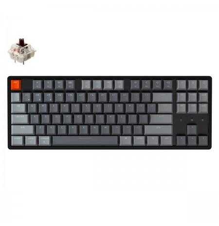 Keychron K8 mechaninė TKL klaviatūra (bevielė, aliuminio rėmo, RGB, Hot-swap, US, Gateron Brown)