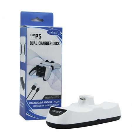 Sony PlayStation DualSense wireless controllers  (PS5) white charging station | Type-C