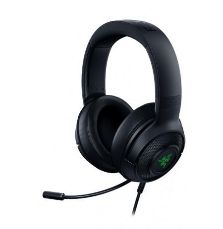 RAZER Kraken V3 X juodos laidinės ausinės su mikrofonu | USB