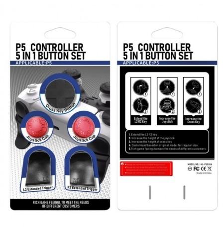PlayStation 5 pultelio mygtukų rinkinys (Raudona)