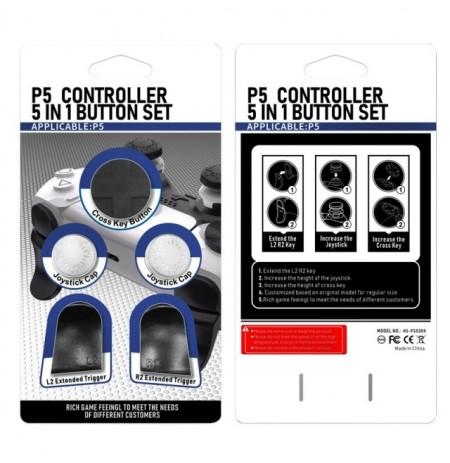 PlayStation 5 pultelio mygtukų rinkinys (Balta)