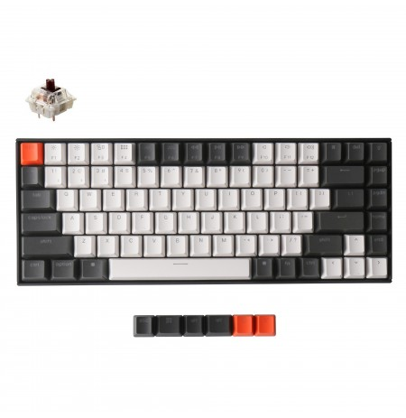 Keychron K2 mechanical 75% keyboard (Wireless, White LED, US, Gateron Brown)