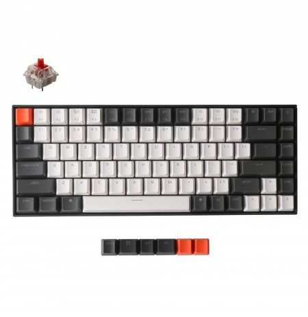 Keychron K2 mechanical 75% keyboard (Wireless, White LED, US, Gateron Red)
