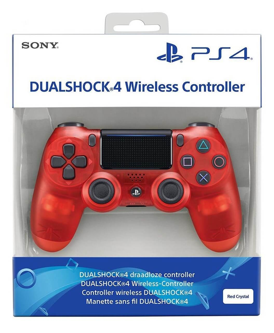 Sony PlayStation DualShock 4 V2 Controller - Crystal Red