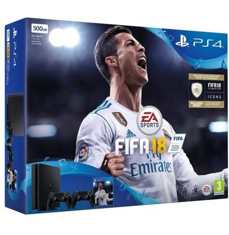 Žaidimų kompiuteris SONY PlayStation 4 (PS4) Slim 500GB - FIFA 18 Dualshock Bundle